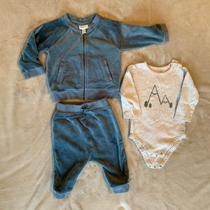 Gymboree Baby Boy Velour Track Suit